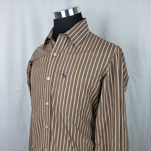 Abercrombie & Fitch Mens Large Dress Shirt Brown